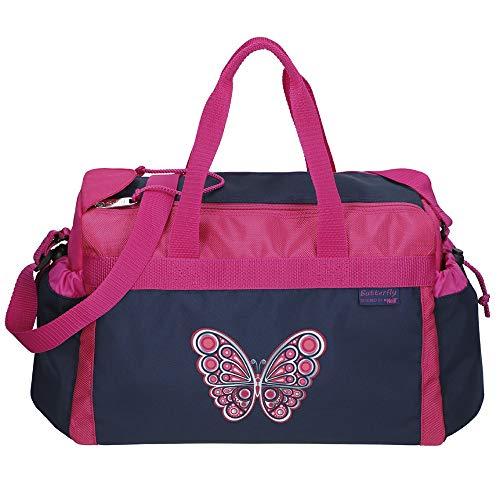 BUTTERFLY - Schmetterling - McNeill Schulsporttasche Sporttasche Schwimmtasche mit NASSFACH Freizeittasche Kindertasche