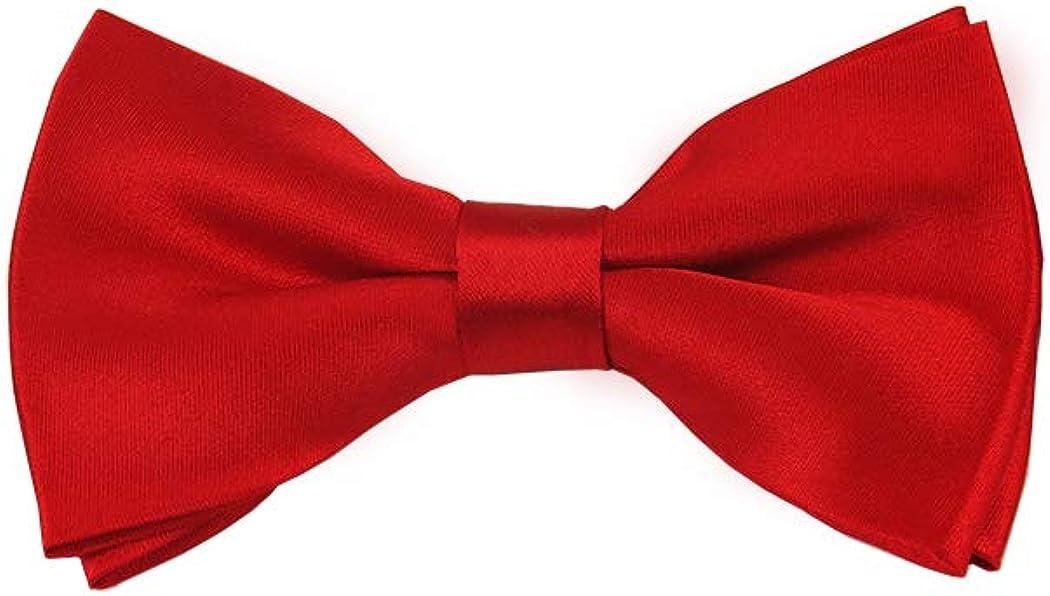 Solid Red Men's Pre-Tied Bow Tie