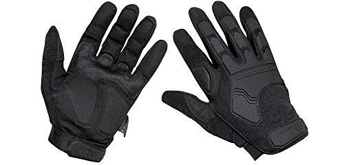 MFH Tactical Handschuhe Attack schwarz Daumen und Zeigefinger umklappbar Gr.L
