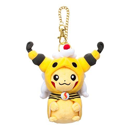 Pokemon Center Original mascot Pikachu with poncho of Mega Ampharos