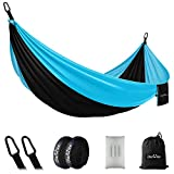 OlarHike Single Camping Hammock, Lightweight Portable Nylon Swing Hammocks with Tree Straps, 500lbs Capacity Hammock for Outdoor Indoor Backpacking Travel Beach Garden Yard