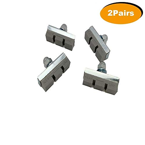 Aniki Bicycle Bike Brake Pads With WEAR LINE MARK (2 Pairs)