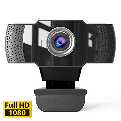 SUNKONG 1080p HD Webcam mit Mikrofon, Externe USB-Computer-Kamera für PC, Laptop, Desktop, Mac, Video, Konferenzen, Skype, Xbox One, YouTube, OBS