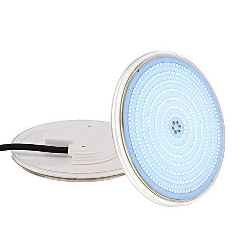 LyLmLe Proyector de piscina LED relleno de resina, lámpara de piscina PAR56 de 35 W (equivalente a una bombilla halógena de 300 W), 3500 lm, ángulo de haz de 140 °, IP68 a prueba de agua, 12 V CA / CC, 6000 K