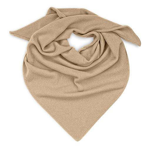 GIESSWEIN Schal Dreieckstuch - Weicher Damen Schal aus Lammwolle, gestricktes Schulter-Tuch, leichte Herbst Stola, Warmes Halstuch, Feinstrickschal aus Wolle