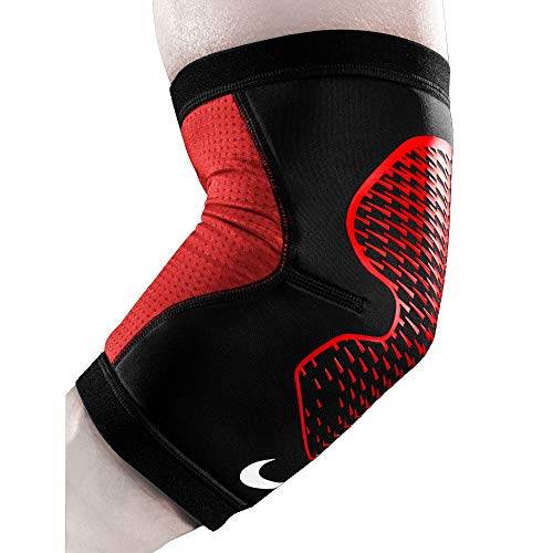 Nike Pro Hyperstrong Elbow Sleeve (Large, Black/University Red/White)