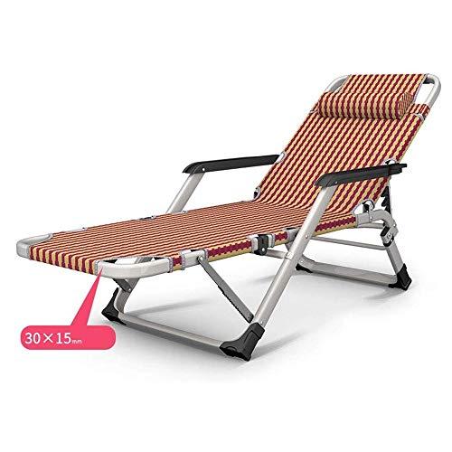 XIAOHE Höhenverstellbarer Büro Chaiselongue Stühle Zusammenklappbar Metallstühle (Color : Padded)