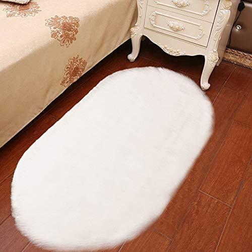 Scrolor Teppiche für Wohnzimmer Bodendekoration Schlafzimmer Kissen Weiche Teppiche Stuhlabdeckung Künstliche Wolle Haarigen Teppich Sitzmatten Teppich