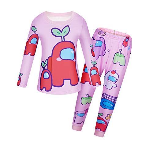 Kids Pyjamas for Boys Girls Pjs Cartoon Print Sleepwear Tops and Pants