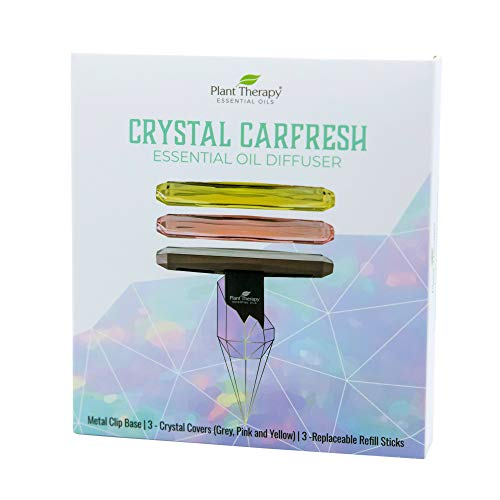 Plant Therapy Essential Oil Multi-Color Crystal Carfresh Aromatherapy Diffuser with Car Vent Clip