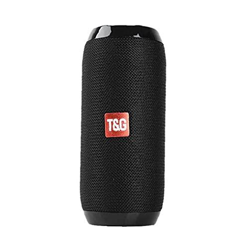 Tuimiyisou Mini Altavoz Bluetooth al Aire Libre Tg117 Negro Impermeable Torre de Sonido portátil Caja del Altavoz