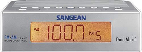 Sangean RCR-5 Uhrenradio (UKW/MW Tuner, LCD) silber