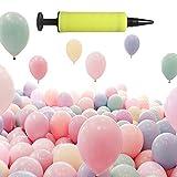 Zeaye - Paquete de 100 Globos de látex para Bodas, cumpleaños y Decoraciones (con Tubo Inflable)