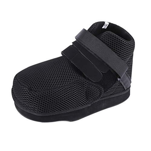 Healifty Zapato Postoperatorio Botín Médico Ajustable para Caminar Post Cubierta Quirúrgica Del Pie Soporte Ortopédico Del Dedo Del Pie para Fracturas Óseas Rotas Tamaño Negro Xs
