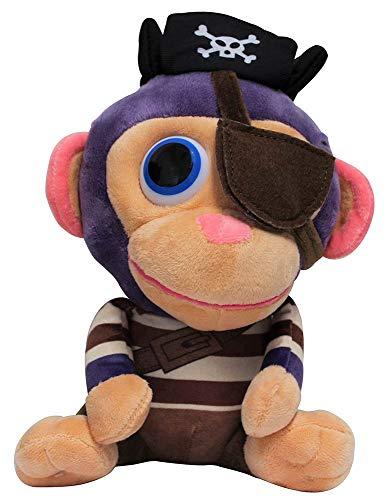 Wonder Park Chimpanzombie Plush Toy, Peluche Disfrazado, Figura de Tela para abrazar, Jugar y coleccionar, 27cm (Pirata)