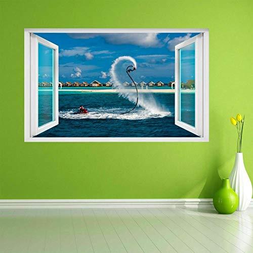 Pegatinas de pared Flyboarding Embarcación Deportes acuáticos extremos Etiqueta de la pared Decoración de la etiqueta mural