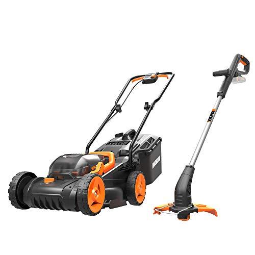 WORX WG927E Dual 20V Battery 34cm Cordless Lawn Mower