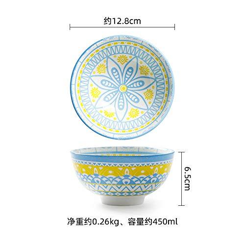 Tazones de cerámica para pasta, ensalada, cereales, sopa y microondas y lavavajillas Sección Safe-F