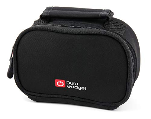 DURAGADGET Black Neoprene Lightweight Zip-Locked Carry Case with Accessories Space - Compatible with Logitech C615 | C920 | C922 | C922x | C925e | C930 | C930e HD Webcams