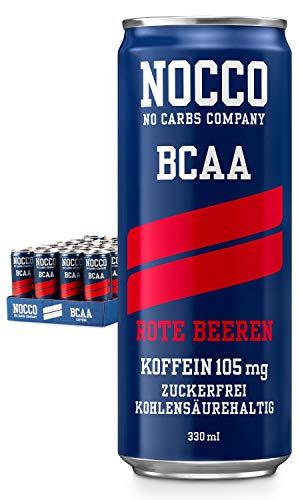 NOCCO(No Carbs Company)BCAA Rote Beeren,24 x 330 ml Dosen