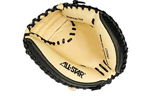 All-Star Cm3031 Comp 33.5 Inch Catchers Mitt 2 Piece Black/Tan Right Hand