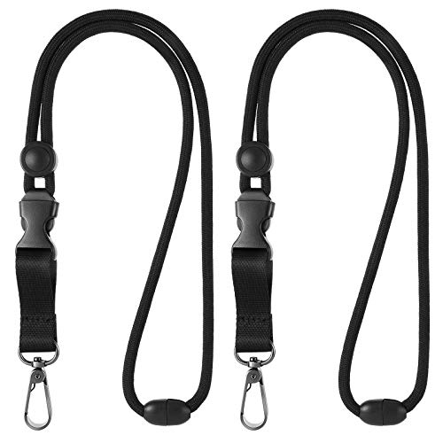 2 Pieces Breakaway Lanyards for ID Badges Heavy Duty Lanyard Adjustable Neck Strap for Keys and Badge Holder ID Lanyard Key Lanyard for Men