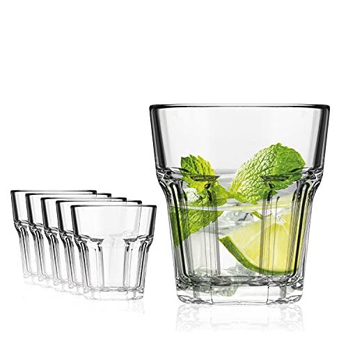 SAHM Vasos de Agua   Vasos Agua Cristal de 280ml   6...