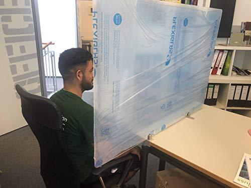 Separador de mesa transparente acrílico