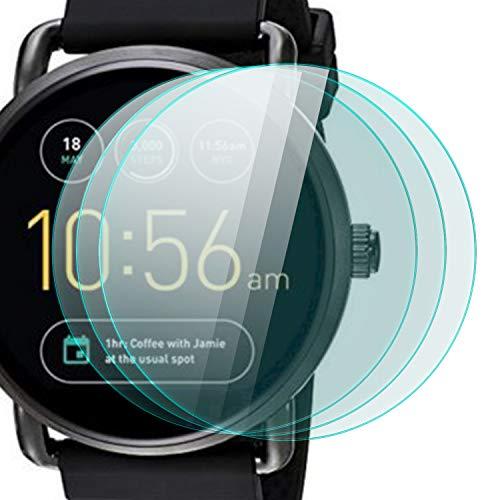 zanasta 3 Stück Schutzfolie für Fossil Q Wander 2. Generation Displayschutzfolie aus gehärtetem Glas | Panzerglasfolie Smartwatch Zubehör