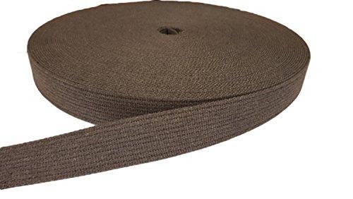 Kacperek Gurtband aus Baumwolle 40 mm breit, 5 Meter lang, vielen Farben für Gürtel, Rucksäcke, Taschen (grau)