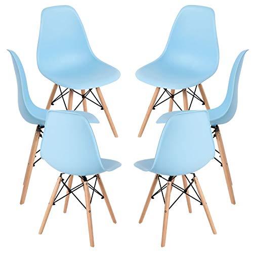 Regalos Miguel - Packs Sillas Comedor - Pack 6 Sillas Tower Basic - Azul Claro - Envío Desde España