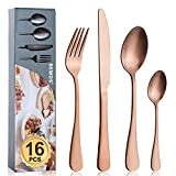 Cutlery Set, BEWOS 16-Piece Stai...