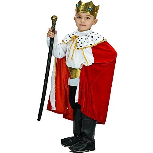 SEA HARE Kind Fantasy King Robe und Krone Set Kostüm (10-12 Jahre)