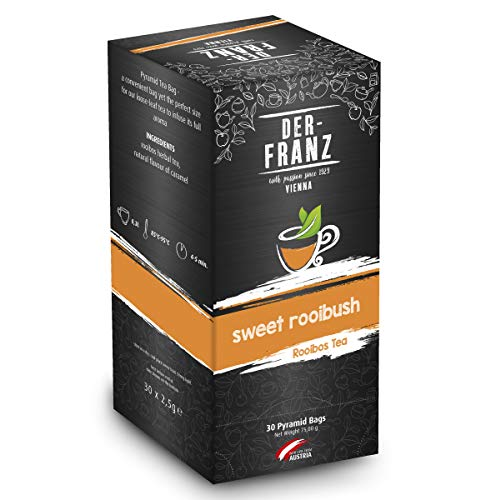 Der Franz Tè rooibos Sweet Rooibos aromatizzato naturalmente in bustine piramidale, 30 x 2.5 g