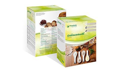 Hanneforth Kochbananenmehl, 1 kg (2x500g) | glutenfrei, 100 Prozent Kochbananen | Ohne Zusatzstoffe | Plantain Flour