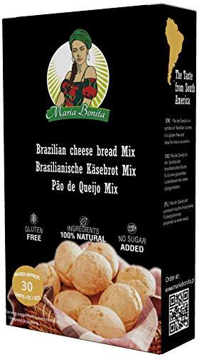 Pao de Queijo, 1 x 400 g, brasilianische Käsebrötchen, glutenfrei Mehl, kein künstlicher Geschmack - Maria Bonita