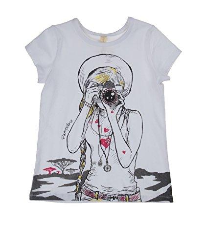 Pampolina Mädchen 6564123 T-Shirt, Weiß (Bright White|White 1000), (Herstellergröße: 128)