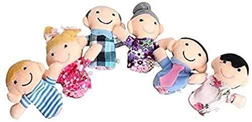 NC87 6 unids/Set de Marionetas de Mano Juguetes para los Dedos Hombres y Mujeres Juguetes para niños Set muñeco de Teatro de Marionetas de Felpa marioneta de Dibujos Animados educativos