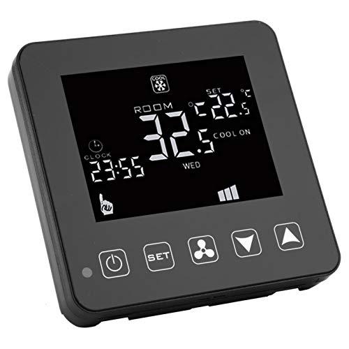 Shipenophy Termostato Material ABS Fan Coil Controlador de Temperatura WiFi Digital de Alta confiabilidad para Aire Acondicionado Central