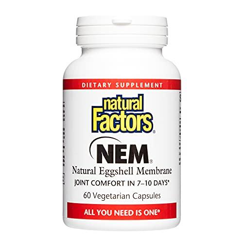Natural Factors, NEM Natural Eggshell Membrane, Promotes Joint Comfort...