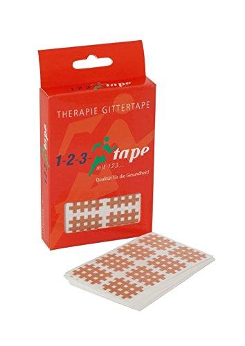 Gittertape Typ A von 123Tape, 180 Akupunkturpflaster pro Box (2,1 cm x 2,8 cm)