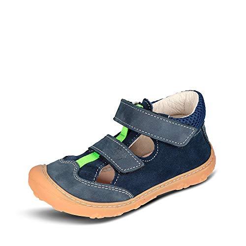 RICOSTA Jungen Kletthalbschuhe EBI von Pepino, Weite: Mittel (WMS), Halbschuh Klettverschluss strassenschuh Sneaker Kids,Nautic,24 EU / 7 Child UK