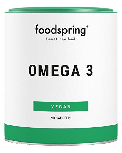 foodspring Omega 3 Kapseln, 90 Stück, Vegane Power für Herz und Kreislauf