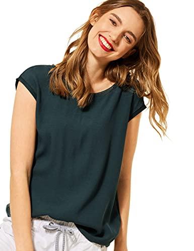 Street One Damen 316378 T-Shirt, Spruce Green, 46