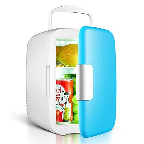 JTJxop Mini Refrigerador Personal Compacto Portátil Enfría y Calienta, Capacidad De 6 litros, Enfría 8 Latas De 12 Oz, para El Hogar, La Oficina y El Automóvil 100% Ecológico, Azul