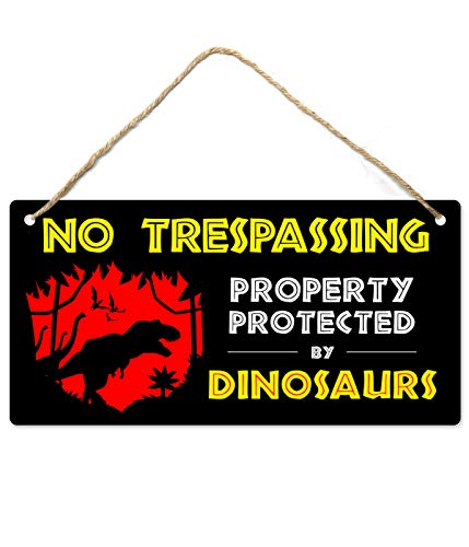 Dinosaur Room Decor for Boys, Dinosaur Decor, 12″x6″ PVC Plastic Decoration Hanging Sign, High Precision Printing, Waterproof, Dinosaur Bedroom Decor for Boys, Boy Room Decor, Boy Decor for Bedroom