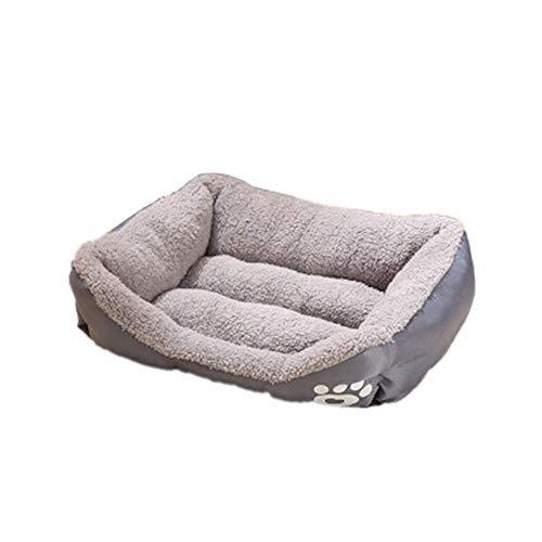 Cama for perros Mantener Caliente perro o gato Cama Salón sofá cubierta extraíble 100% Ante memoria colchón Fácil mantenimiento de la máquina de lavado perro de peluche cama (color: amarillo, tamaño: