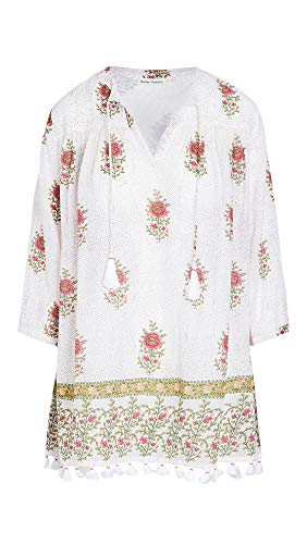 Roller Rabbit Women's Valley Floral Serafina Tunic, White, X-Small