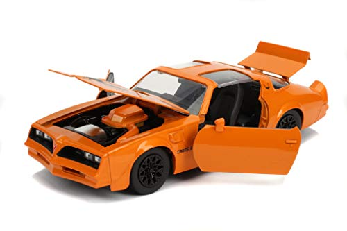 Bigtime Muscle 1:24 1977 Pontiac Firebird Trans AM Die-cast Car Orange, Toys for Kids and Adults