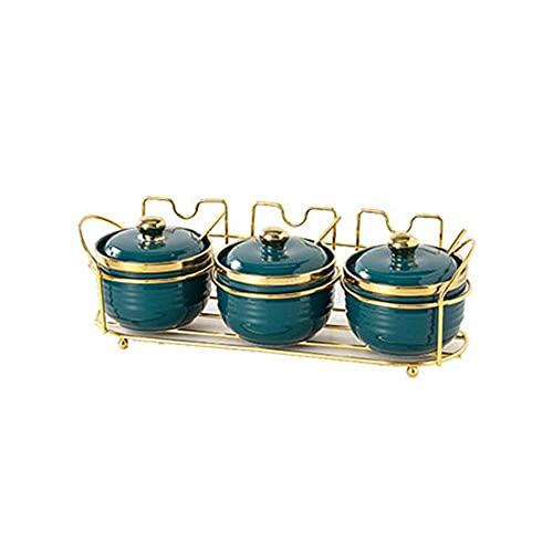 Kruiden opslag keuken keramische kruiden box kruiden pot,olie,zout,saus en azijn,een reeks huishoudelijke kruiden box…